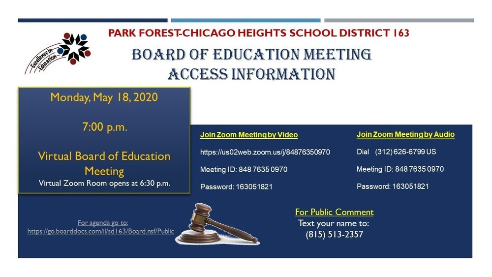 Board Meeting- May 18, 2020