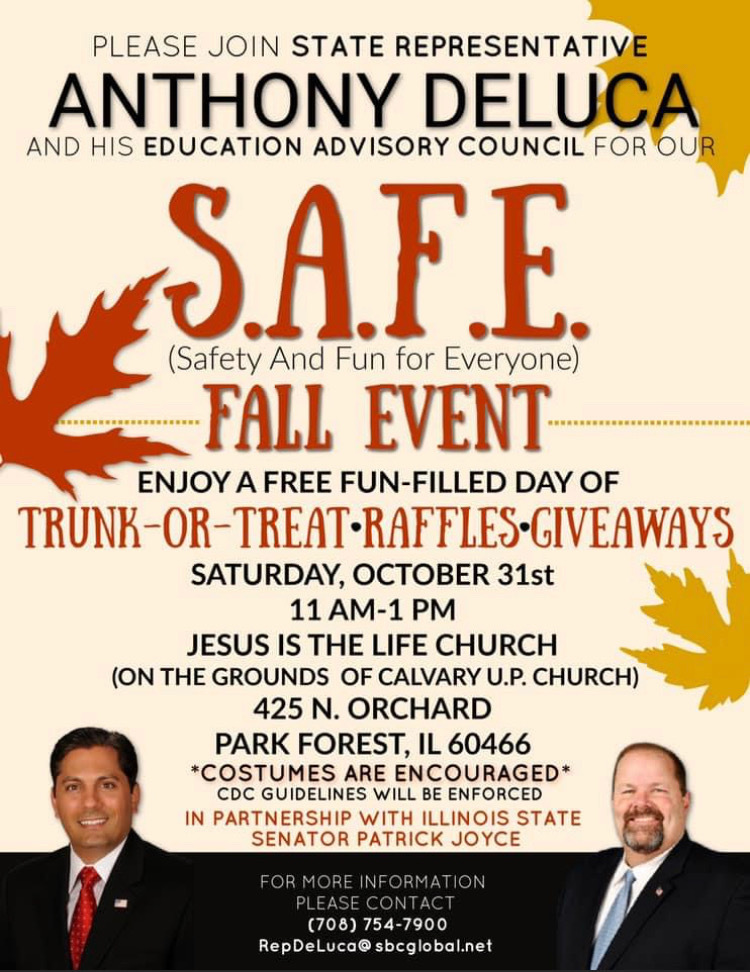 S.A.F.E Fall Event- October 31st