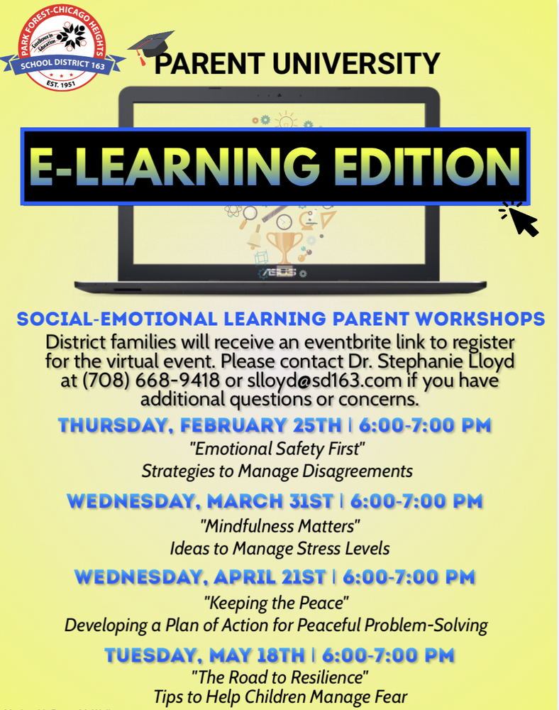 Parent University: e-Learning Edition Events