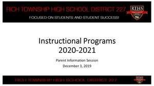 District 227 Instructional Programs 2020-2021