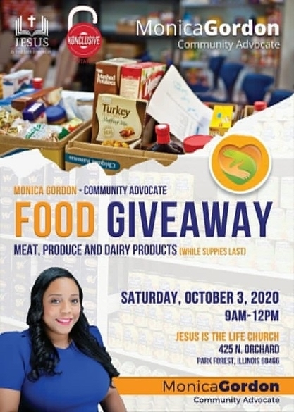 Free Food giveaway in Park Forest on Saturday.