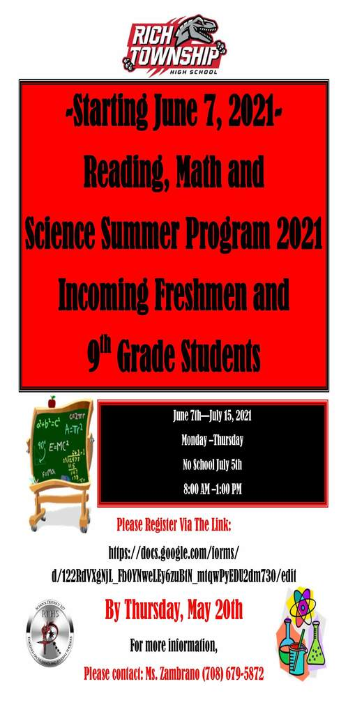Summer RAMP Up Program Information