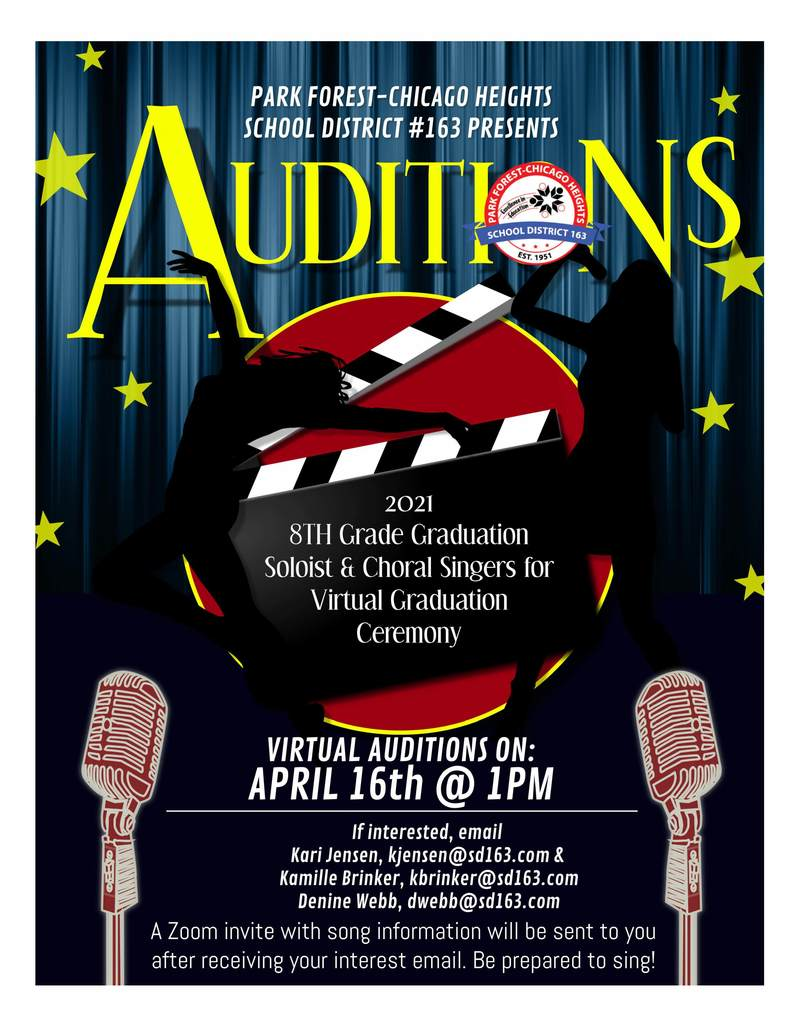 Virtual Audition Flyer 8th Grade
